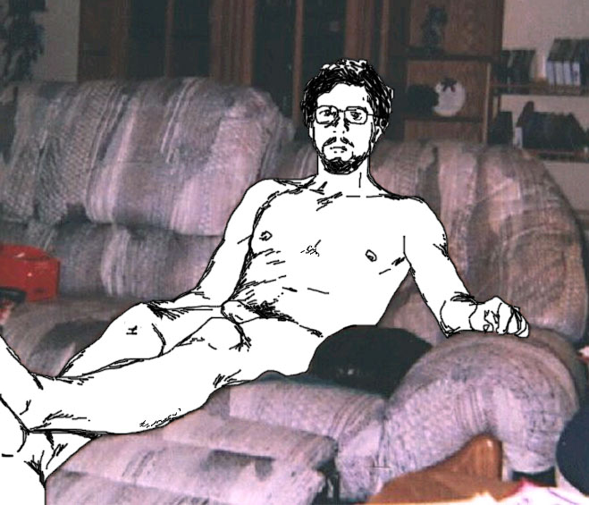 Invisble nudist, at home, with no excuses.